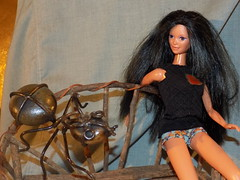 Barbie screams ' that`s one spocky Ant!' (marieschubert1) Tags: barbie fashion doll freight ant spocky spooktacular smileonsaturday