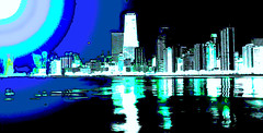 Another Wild Skyline (Semplice e cantabile) Tags: photomanipulation photoshop chicago lakemichigan water architecture