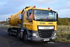 DSC_0001 (richellis1978) Tags: tanker truck lorry haulage transport logistics cannock daf cf 8 wheel mts waste vacuum suction gj16mto