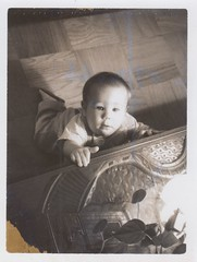 1966_11_07 Ken at 6 months with oriental chest (Ken_Mayer) Tags: mayer family vinsonhallclearout