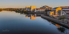 Stockton on Tees-5 (simon.mccabe.5) Tags: river stockton simonmccabe tees teeside council colour uk bridge sunset water