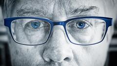Ol' blue eyes (-liyen-) Tags: activeassignmentweekly blue blueeyes eyes glasses blueframes selectivecolouring fujixt2 35mm14 bestofweek1 bestofweek2 bestofweek3