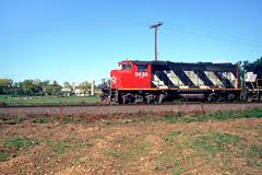 NS: CN GP40-2 9430, NS GP40X 7000 west bound on ALCN at Bowers near Lyons PA Oct 14, 1999 (swissuki) Tags: ns cn gp402 gp40x reading railroads lyons us pa