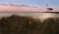 Strong wind (Marijke M2011) Tags: marken hetpaard landscape sunset serenity atmosphere atmospheric nature lighthouse vuurtoren reed water le paardvanmarken skyline