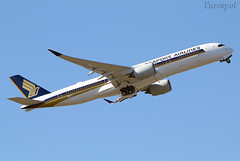 F-WZHI Airbus A350 ULR Singapore (@Eurospot) Tags: fwzhi 9vsgc airbus a350 a350900 ulr singapore lfbo toulouse blagnac