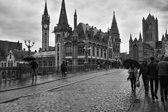 A rainy day. (wimjee) Tags: nikond7200 nikon d7200 afsdx1680mmf284eedvr concertreis belgië devriendenkring montfort niksoftware silverefexpro2 blackwhite zwartwit monochrome gent belgium