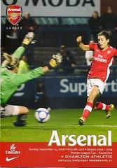 Arsenal v Charlton Athletic (Charlton Athletic Programmes) Tags: arsenal charltonathletic charlton women ladies womenscup womensleaguecup 0809