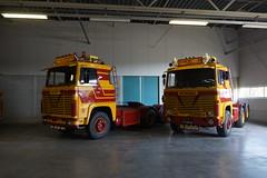 Scania 140 V8 met kenteken BE-83-52 en 141 super V8  met kenteken 17-YD-42 E. van Sommeren tijdens de Dag van Historisch Transport in Druten 14-10-2018 (marcelwijers) Tags: scania 140 v8 met kenteken be8352 en 141 super 17yd42 e van sommeren tijdens de dag historisch transport druten 14102018 lkw truck trucks camion vrachtwagen vrachtauto nederland niederlande pays bas netherlands gelderland