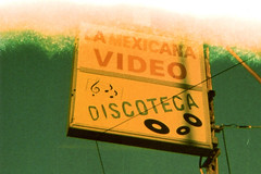 Durst Duca La Mexicana Discoteca (▓▓▒▒░░) Tags: durst duca italy milan 1950s art deco steel stylish design analog mechanical 35mm vintage retro classic antique film camera industrial product black crackle agfa rapid la los angeles california xpro cross process fuji sensia street sign color paint venice beach