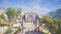 The Secrets Of Ancient Greece | Assassin's Creed Odyssey (CHRISinSESSION) Tags: 4k games game screenshots screenshot gamescreenshots gamescreens digital art realism beautiful virtualphotography videogames screencapture societyofvirtualphotographers the secrets of ancient greece | assassins creed odyssey road tree building sky ruins architecture