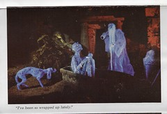 Disneyland Haunted Mansion- Wrapped Up - From Postcard Booklet ( 1969 ) (Donald Deveau) Tags: disney disnyana disneyland ghosts mummy hauntedmansion postcard