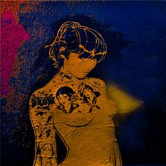 Lady be good (Marco Braun) Tags: stencil pochoire schablone art beautiful beauty fashion female girl glamorous lady mode makeup model sensual sexy woman frau femme elegant gorgeous hairstyle look luxury stylish shadow dress figure body grace black white concept perfect silhouette desire erotic décolleté breast hidden mysterious shape lips half dark skin amazing expression spotlight schwarz weiss noire blanche erotik nackt nue naked érotique graffiti streetart walart urbanart colourful colored farbg bunt schön erotisch mystisch