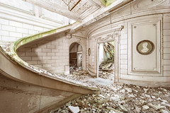 • Middle-class ashes (Woven Eye) Tags: necessityofruins ruins abandonedcastle remains pastgrandeur zeissdistagonzm15 abandoned brokenstairs insoliteplace