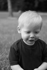 Black & White (cmlx0208) Tags: candid field depth smile outside child son white black