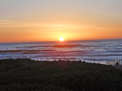 classic sunset at the beach (Aqua and Coral Imagery) Tags: city nature colors colorful inspo ocean sf orange yellow reflections