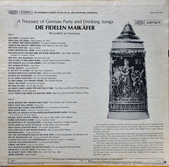 A Treasury of German Party & Drinking Songs (BKHagar *Kim*) Tags: bkhagar record album vinyl music atreasuryofgermanpartydrinkingsongs oktoberfest drinking stein beer