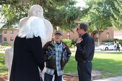 Honoring Sculpture Dedication (University of Minnesota, Morris Alumni Association) Tags: deweygoodwin duanegoodwin sculpture mall campusmall homecoming homecoming2018 sculpturededication