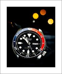 Seiko Quartz (G. Postlethwaite esq.) Tags: canon40d canonefs60mmmacro dof macro seikoquartz bokeh closeup depthoffield divers photoborder primelens selectivefocus watch