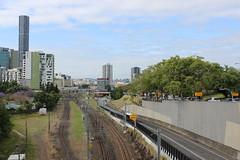 Brisbane transport (philip.mallis) Tags: brisbane romastreetparklands park view skyline railway road city busway