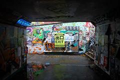exit records (weirdoldhattie) Tags: bristol bearpit subway underpass