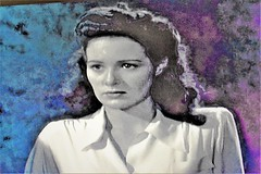 Kay Harding (thomasgorman1) Tags: actress colorized woman screenshot nikon psychedelic colorization effects processed portrait nostalgia film 1944 retro