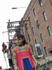 Little Girl (cn174) Tags: liverpool liverpoolgiants giants liverpoolsdream giantspectacular merseyside albertdocks canningdock dog xoxo babyboy littlegirl
