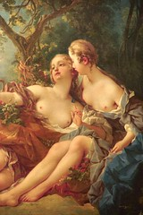 1745 Bacchus & Erigone (Autumn) by François Boucher (mark.wohlers) Tags: wallacecollection london unitedkingdom bacchus erigone autumn boucher 18thcentury prechristian tradition respectable censored mythology lusty halfnaked nymphs frisky europe homosexuality gauzy lesbian erotica ancient greek god woman grapes milkywhite shoulder sexual painting