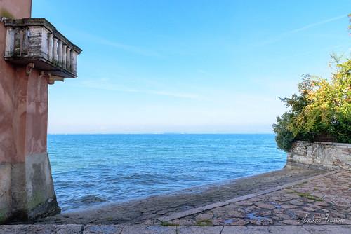 Mura del castello Scaligero a Lazise, Lago di Garda