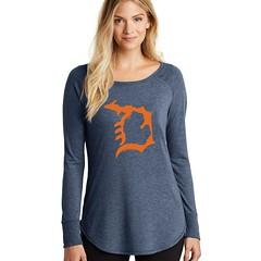 Michigan D Women's Ultra Soft Scooped T-Shirt (Livnfresh Michigan) Tags: livnfresh michigan