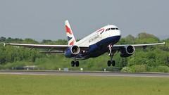 G-EUPE (AnDyMHoLdEn) Tags: britishairways a319 oneworld egcc airport manchester manchesterairport 23l