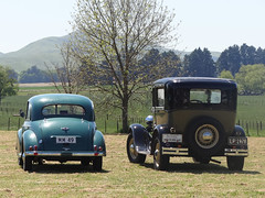 Old timers (Home Land & Sea) Tags: nz newzealand hawkesbay otane old cars 1949 morrisminor 1928 tudor ford modela sonycybershot dschx100v pointshoot homelandsea