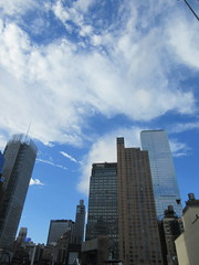 2018 October Cloud Strewn Sky NYC 2370 (Brechtbug) Tags: 2018 october cloud strewn sky nyc virtual clock tower from hells kitchen clinton near times square broadway new york city midtown manhattan 10112018 stormy weather building no hanging cumulonimbus blue cumulus nimbus fall hell s nemo southern view ny1