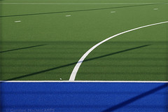 Day #3919 (cazphoto.co.uk) Tags: abstract arc park artificialsurface blue chelmerpark curves green hockeypitch lines shadows white project365 beyond3653 230918 panasonic lumix dmcgx8 panasonic1235mmf28lumixgxvarioasphpowerois
