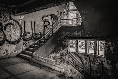 Emptiness and Loneliness... (panos_adgr) Tags: nikon d7200 handheld shot kamena vourla hotel radion sterea hellas greece travel photography old abandoned building architecture decay dark stairs windows wall art texture ambient light forgotten
