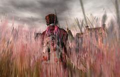 Late October-Yorkshire (Anja Mexicola) Tags: yorkshire secondlife anjamexicola virtual digital art photoshop girl grass sky light shadow amitomo clavv foxy travel trip backpack milaposes music drumbass londongrammarstronghighcontrastremix colors maitreya lelutka mudskin