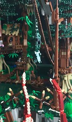 Horror at Mangrove Swamp (Lino M) Tags: mangrove swamp lego scary dark water green brown bayou louisiana horror monster lovecraft inspired lino martins trees 1920s 1930s mangroves