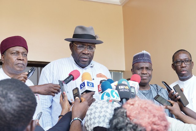 HSDickson - Post Primary Reconciliation meeting with Aminu Tambuwal 16th Oct 2018, Abuja