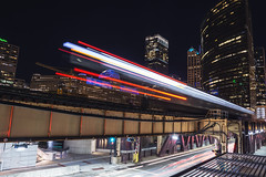 Chicago Infinite (tylerjacobs) Tags: sony a6000 sigma 16mm f14 chicago illinois downtown city down town cities skylines skyline building tower skyscrapper midwest chitown chi high rise light time equinox autumn long exposure longexposure lighttrails trails train cars car trains loop cta l