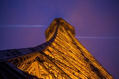 Eiffel Tower Snowy Night