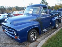 1955 Ford F-100 (splattergraphics) Tags: 1955 ford f100 pickup truck custom flames cruisenight lostinthe50s marleystationmall glenburniemd