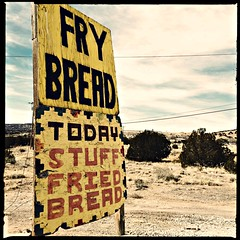 Get Your Fry Bread Here (pam's pics-) Tags: pammorris pamspics 2015californiaroadtrip vacation us usa america hipsta hipstamatic iphone5s appleiphone cameraphonephotography mobilephonephotography cellphonephotography roadside nm newmexico lagunanewmexico sign food frybread offthebeatenpath eating