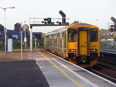 150221 Newton Abbot (2) (Marky7890) Tags: gwr 150221 class150 sprinter 2e47 newtonabbot devon railway train