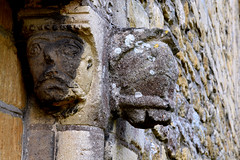 Beckford, Worcestershire, St. John the baptist, north entry, detail (groenling) Tags: beckford worcestershire worcs england britain greatbritain gb uk stjohnthebaptist entry north doorway tympanum stone carving stonecarving capital animal grotesque face muzzle