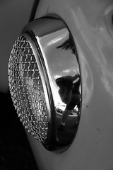 Grilled photographer (taddzilla) Tags: reflection metal volkswagen thing volkswagenthing vw headlight light chrome car carshow lucidcarcrew photographer blackandwhite bw canon7dmkii pemborkepines florida 2018 allrightsreserved