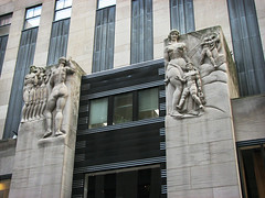 The Naked Truth (skipmoore) Tags: newyorkcity nyc artdeco architecture sculpture pilasters