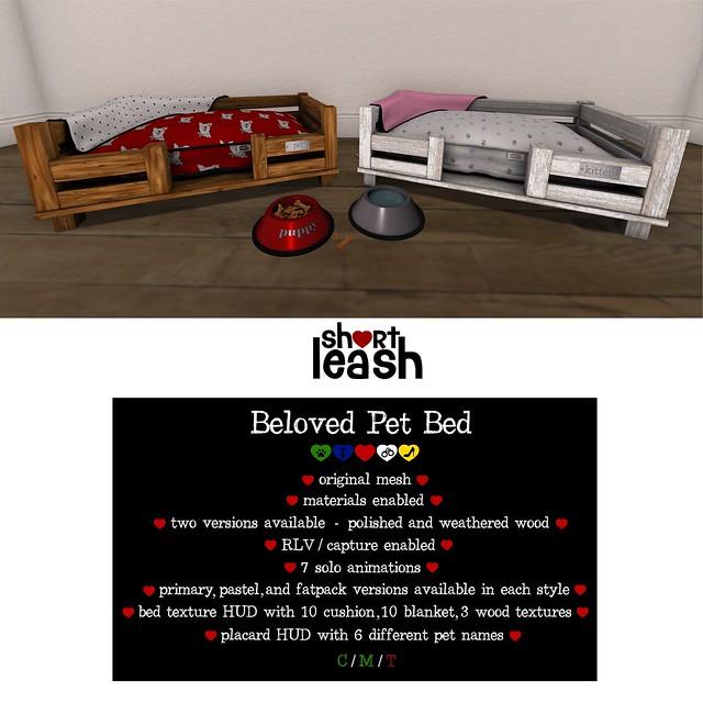 .:Short Leash:. Beloved Pet Bed