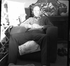 Legs akimbo (vintage ladies) Tags: blackandwhite vintage people photograph 60s man male portrait