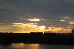 Silhouette (recekasten) Tags: trains railroads cn neenah medina junction night exposure gp9 classic wisconsin csx fanta fe santa