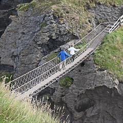 Carrick-a-Rede Rope Bridge (Runemaker) Tags: carrickarede ropebridge bridge northernireland uk unitedkingdom hiking adventure irish ireland people hikers