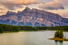 Two Jack Lake in the Morning (Sean X. Liu) Tags: twojacklake lake banffnationalpark banff morning alberta nationalpark canada island rockymountains canadianrockies